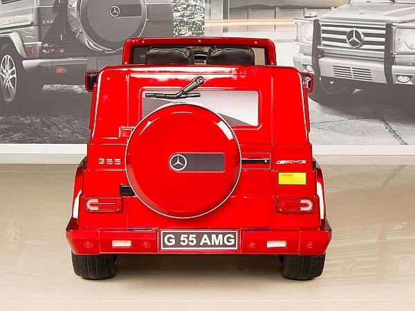 red mercedes g55 amg 12v kids ride on car battery power wheels w
